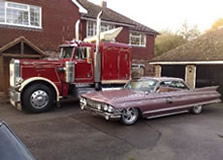 Truck and Cadillac