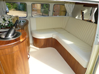 VW Wedding Camper Van Wilma's interior
